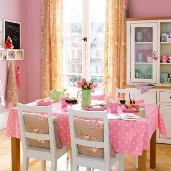 Inspiração com tons de rosa na decoração 007