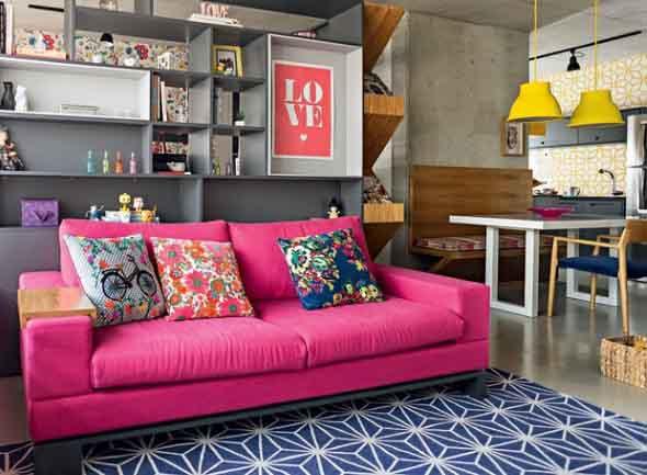 Inspiração com tons de rosa na decoração 013