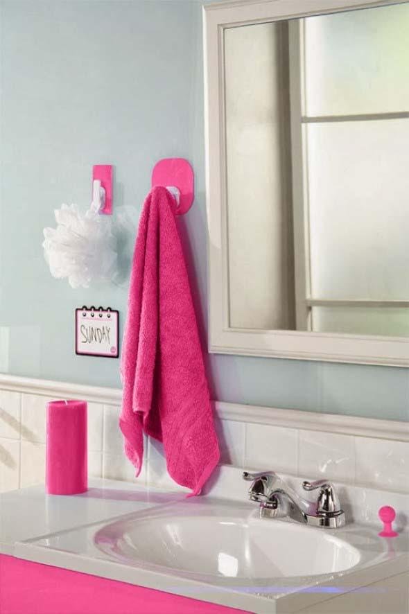 Inspiração com tons de rosa na decoração 014