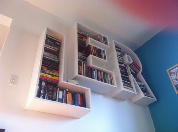 Modelos de estantes em forma de letra 002