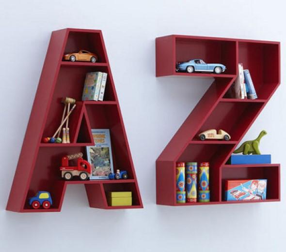 Modelos de estantes em forma de letra 003