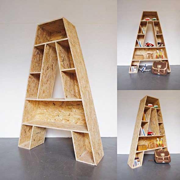 Modelos de estantes em forma de letra 015