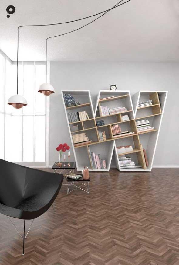 Modelos de estantes em forma de letra 016