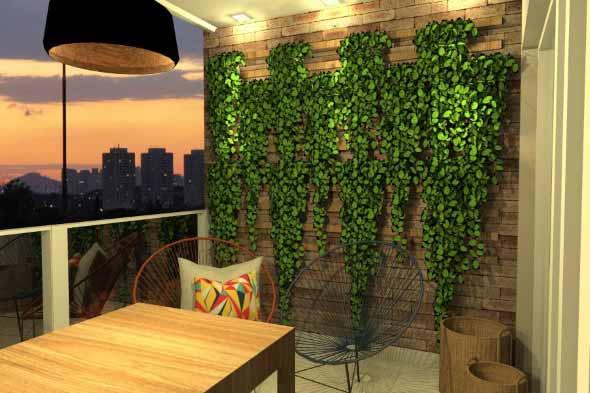 Jardim suspenso na decoração 012