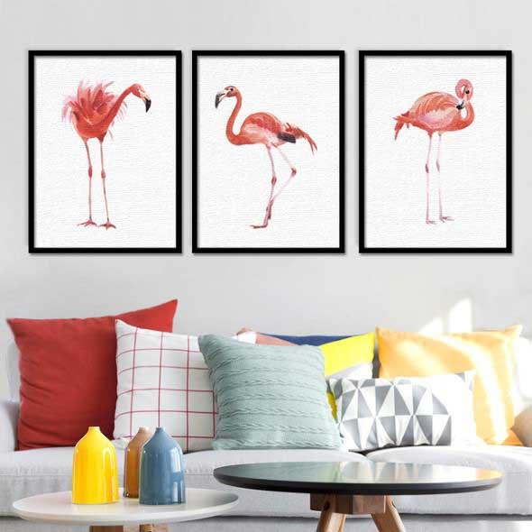 Como usar flamingos na decoração 006