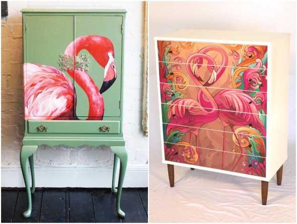 Como usar flamingos na decoração 012
