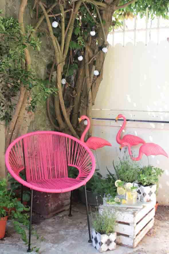 Como usar flamingos na decoração 015
