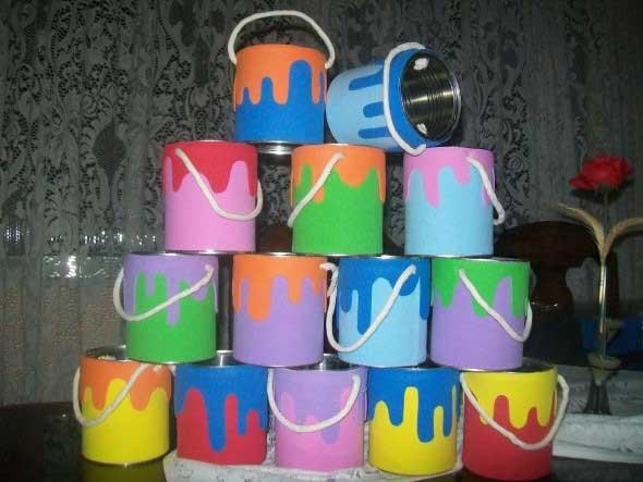 Como usar latas na decoração 004