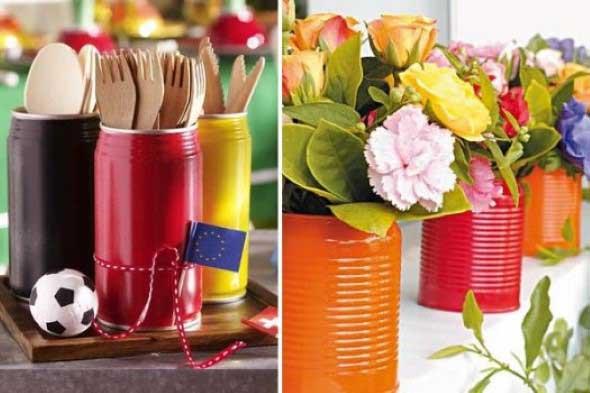 Como usar latas na decoração 012