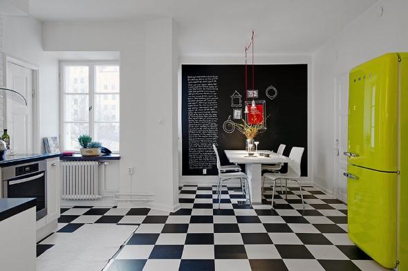 Dicas para decorar cozinhas preto e branco 002