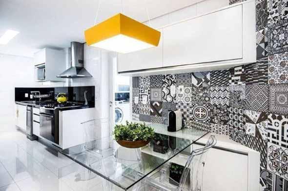 Dicas para decorar cozinhas preto e branco 006