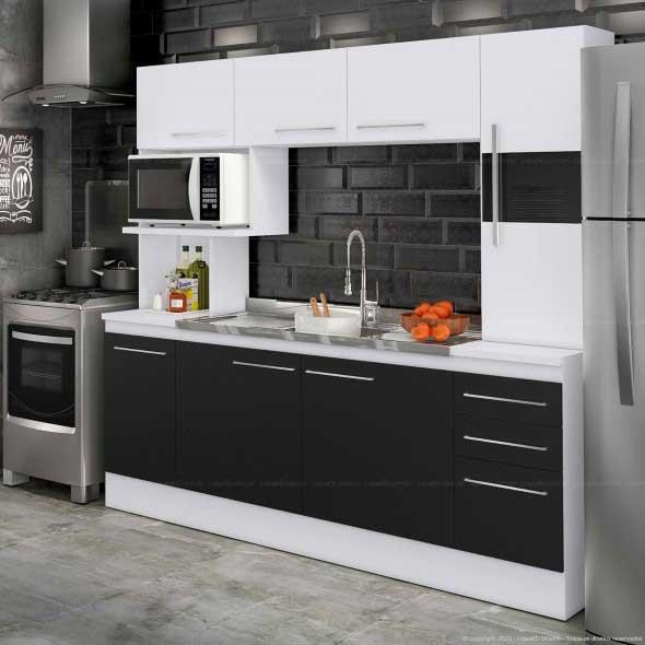 Dicas para decorar cozinhas preto e branco 007