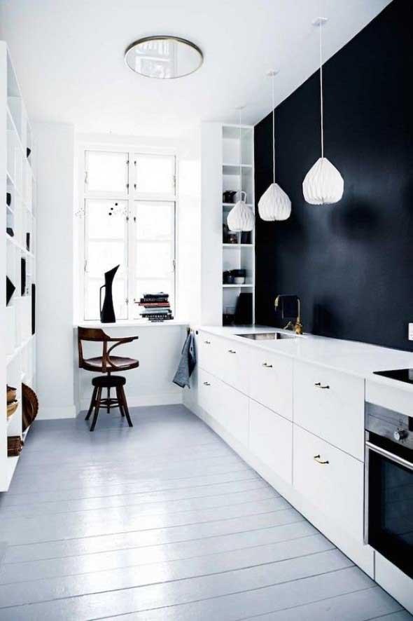 Dicas para decorar cozinhas preto e branco 016