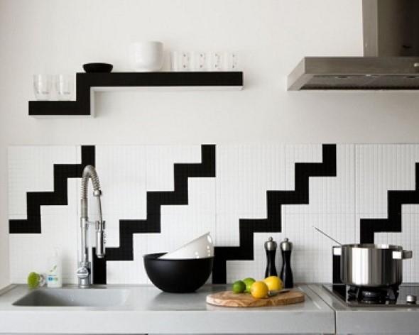 Dicas para decorar cozinhas preto e branco 017