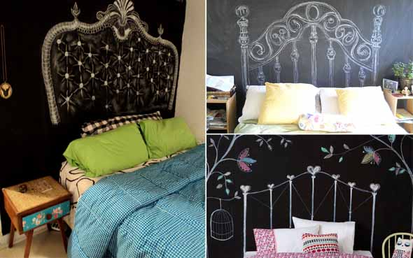 Usar tinta lousa na decoração do quarto 003