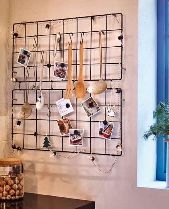 Utensílios de cozinha nas paredes 007