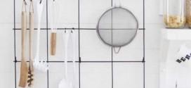 Como pendurar utensílios de cozinha nas paredes