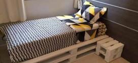 Cama de paletes no quarto – Confira modelos e ideias