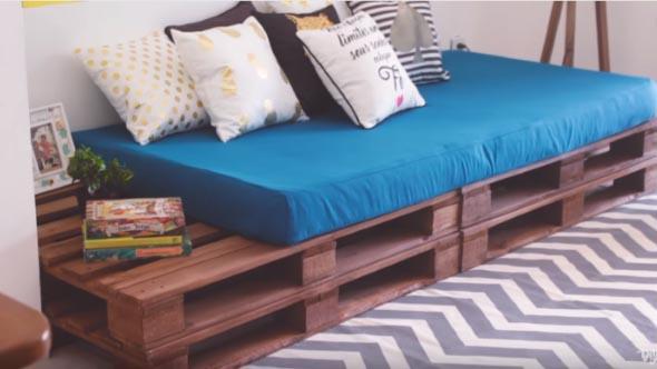 Cama de paletes no quarto - Confira modelos e ideias
