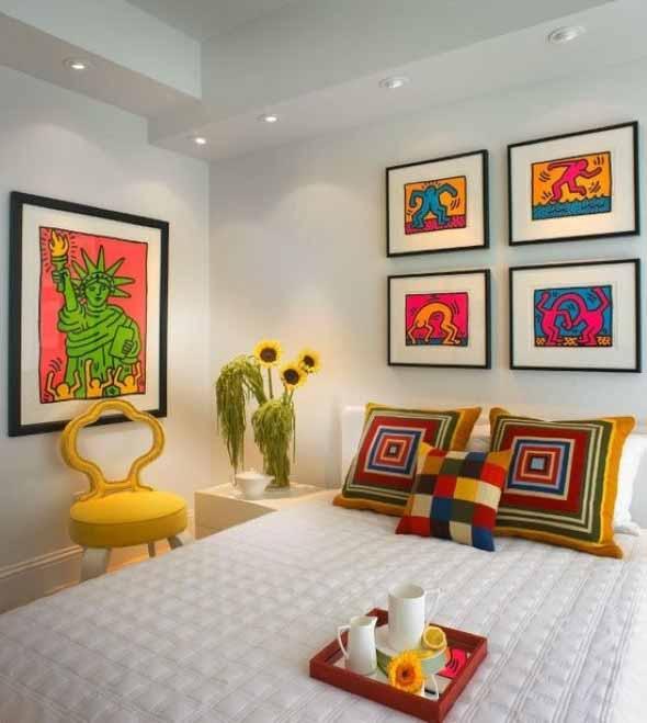 Dicas de decoração com quadros coloridos 007