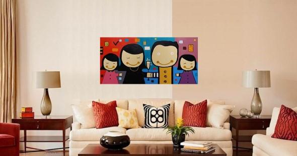 Dicas de decoração com quadros coloridos 008