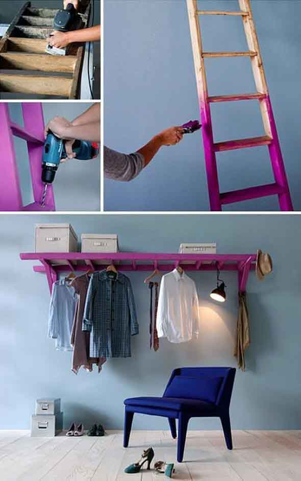 Economize espaço em casa pendurando objetos 005