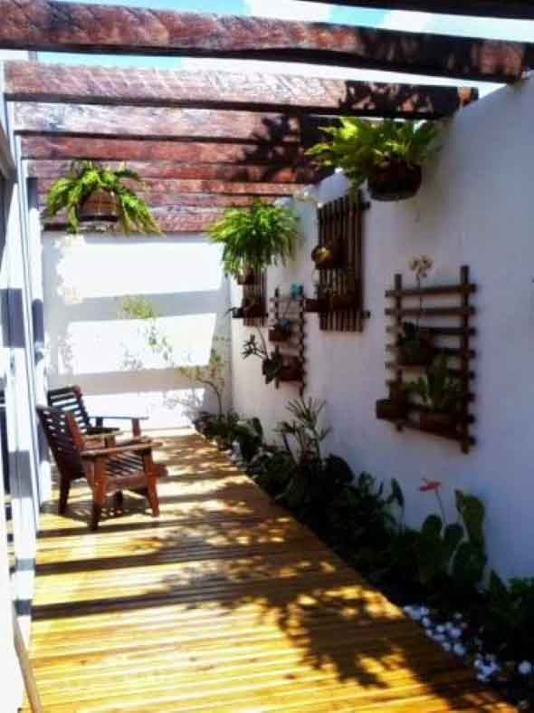 Jardim vertical no corredor 004