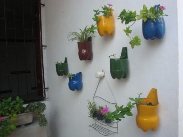 Jardim vertical no corredor 006