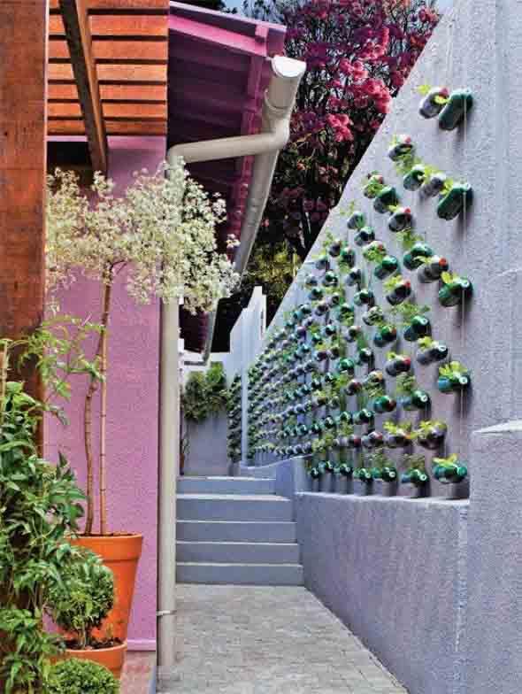 Jardim vertical no corredor 008