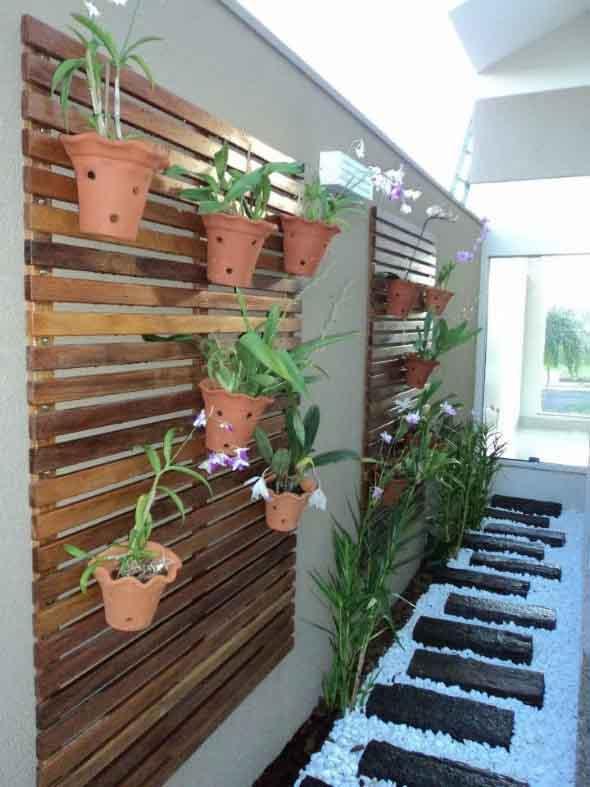 Jardim vertical no corredor 009
