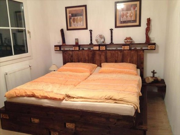 Modelos de camas com visual rústico 001