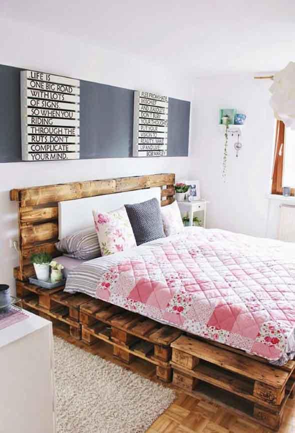 Modelos de camas com visual rústico 005