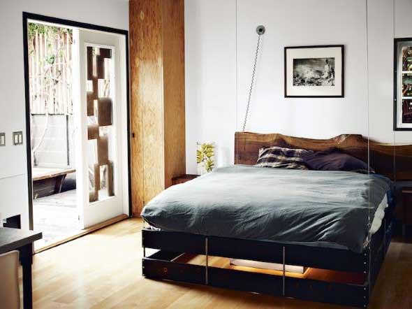 Modelos de camas com visual rústico 008