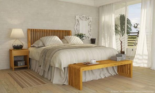 Modelos de camas com visual rústico 018