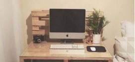 Monte seu escritório com paletes