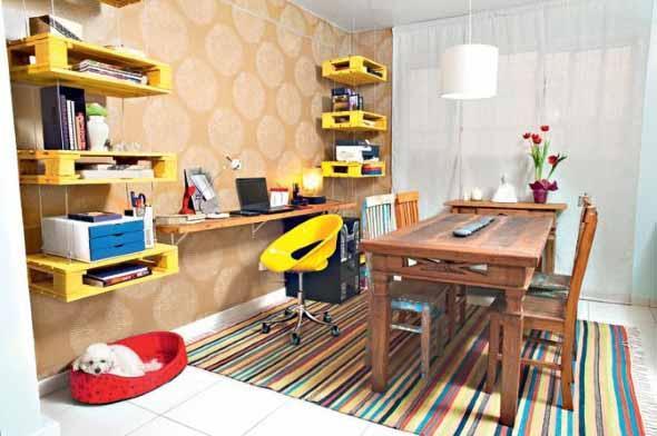 Monte seu home Office com paletes 007