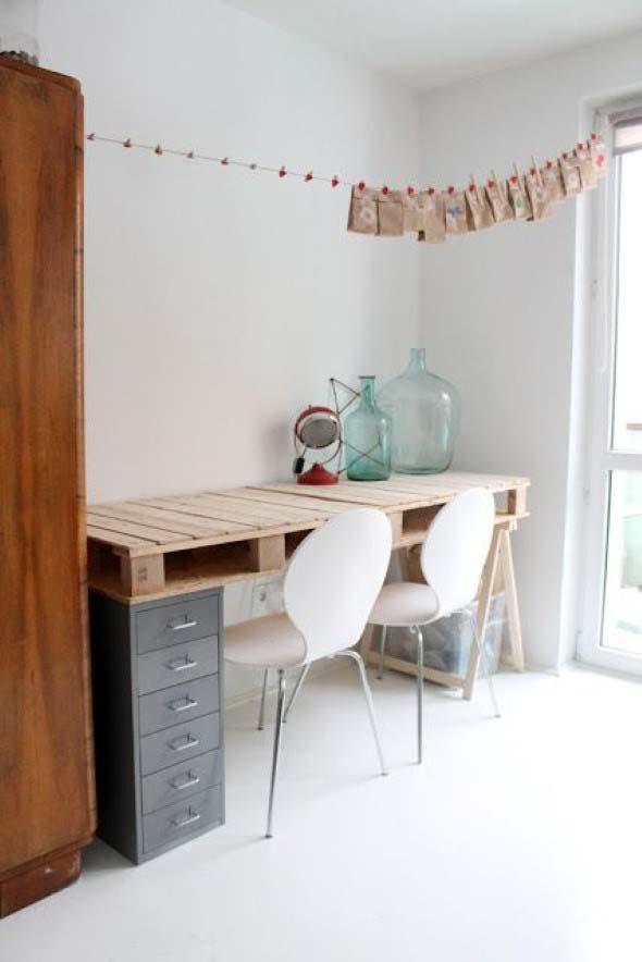 Monte seu home Office com paletes 010