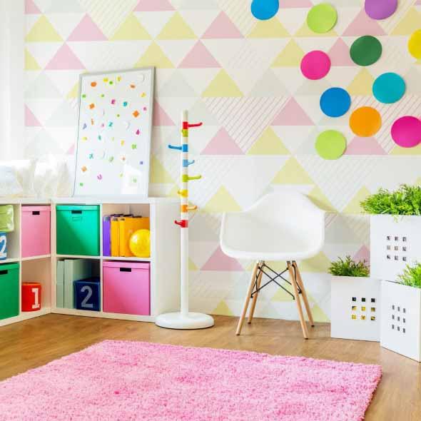 Papel de parede geométrico na decoração 006