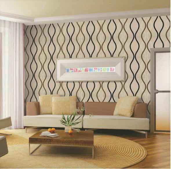 Papel de parede geométrico na decoração 010