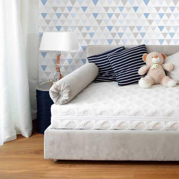 Papel de parede geométrico na decoração 012