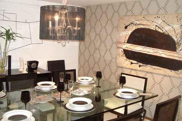 Papel de parede geométrico na decoração 018