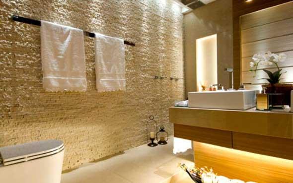 Revestimento de pedras para o banheiro 002