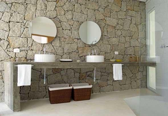 Revestimento de pedras para o banheiro 003