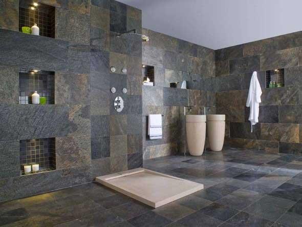 Revestimento de pedras para o banheiro 006