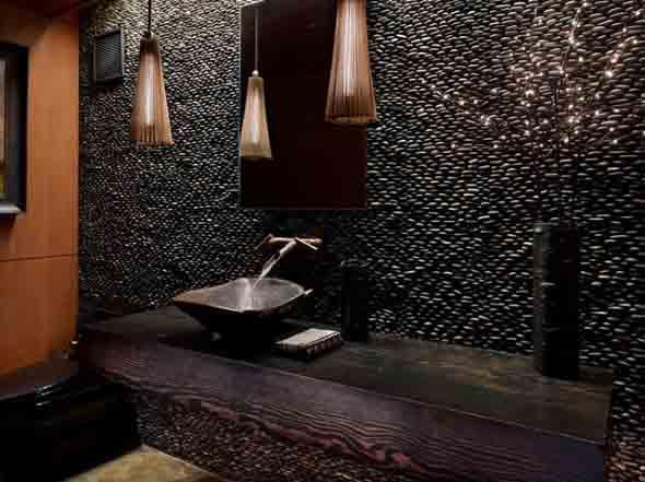 Revestimento de pedras para o banheiro 007