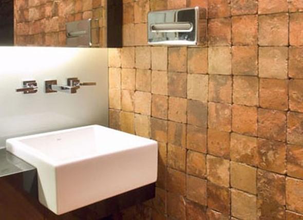 Revestimento de pedras para o banheiro 008