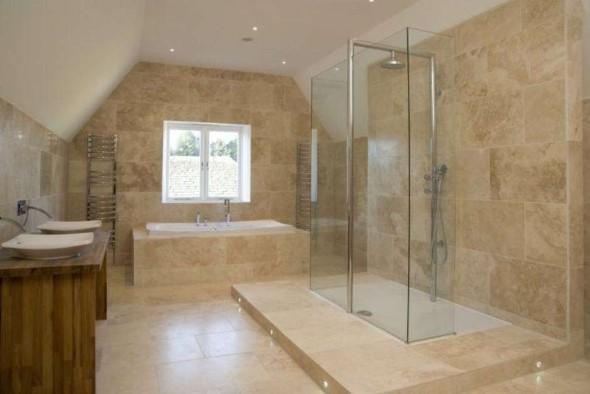 Revestimento de pedras para o banheiro 012