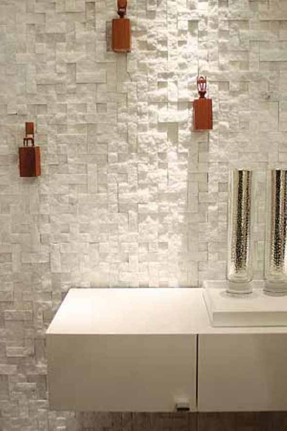 Revestimento de pedras para o banheiro 013