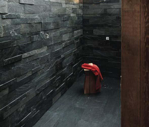 Revestimento de pedras para o banheiro 014
