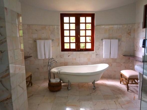 Revestimento de pedras para o banheiro 016